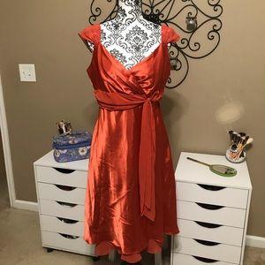 David's Bridal Burnt Orange Formal Dress Size 16